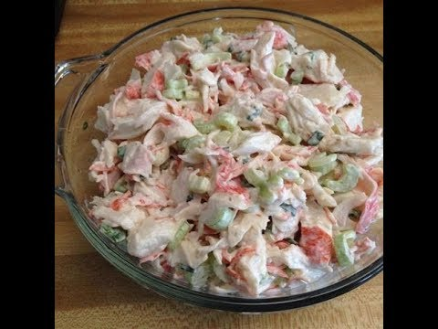 Crab Salad With Zucchini Salad And Baby | EASY TO LEARN | QUICK RECIPES