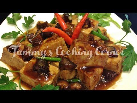 Braised Tofu with Mushroom | Tau Hu Kho Tuong