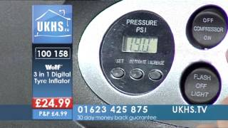 Wolf 3 In 1 Digital Tyre Inflator From Ukhs.tv