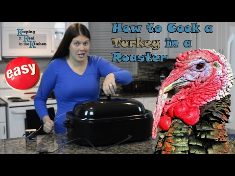 How to Cook a Turkey in an electric roaster, EASY and QUICK!  I Episode 6