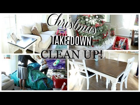 CHRISTMAS TAKE DOWN | CLEAN UP AND TIPS