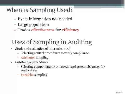 When is Sampling Used in Auditing