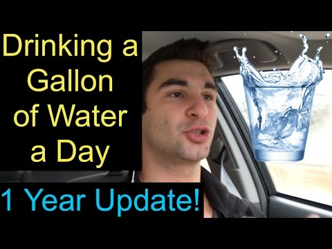 Drinking a Gallon of Water a Day (1 Year Update!)