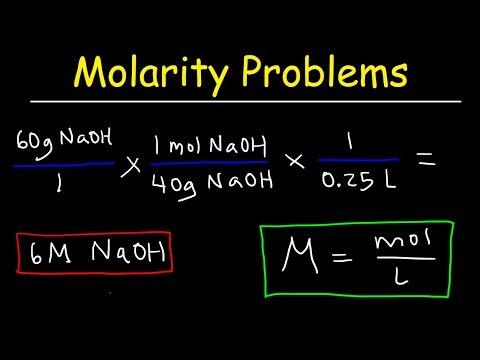 Molarity Practice Problems