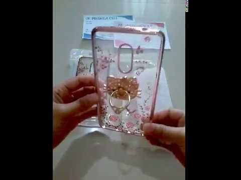 Wa +6289657012268 Xiaomi Redmi Shiny Chrome Flower I Ring Soft Case Jelly Transparan Casing Hp