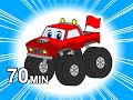 Monster Trucks Colors And Counting Kids Learn 3d Color Balls