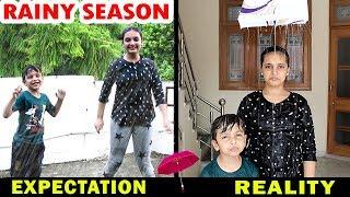 RAINY SEASON - Expectation vs Reality - Types of Kids in Monsoon Aayu and Pihu Show