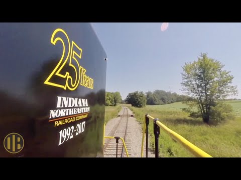 Locomotive Ride Along: Indiana Northeastern RR Coldwater to Hillsdale
