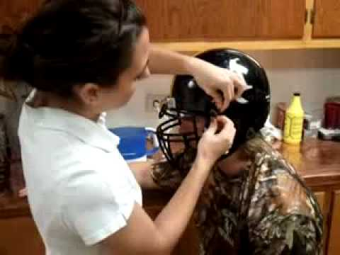 How to fit a football helmet and mouthguard