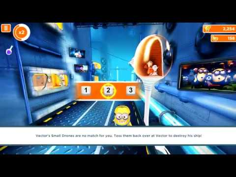 Despicable Me :MINIONS RUSH ,GAME PLAY LEVEL:10 Gru