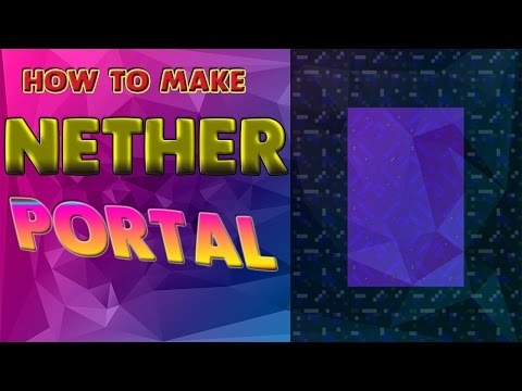 How To Make Nether Portal In Minecraft  (NO MODS)  - 2016