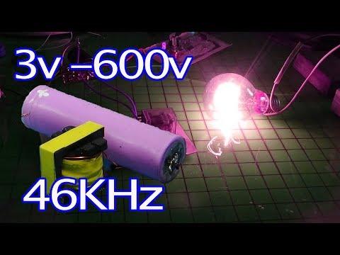inverter 3v to 220v   600v Circuit diagram using fluorescent lighting  M19