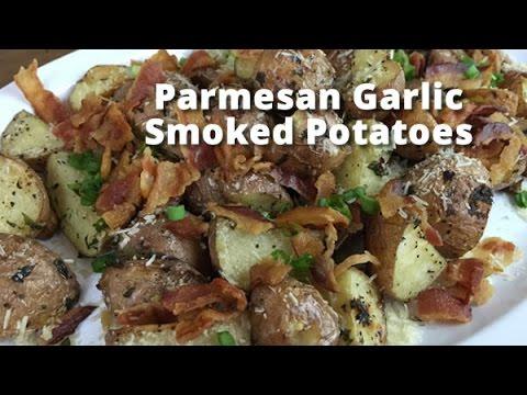 Parmesan Garlic Smoked Potatoes | Smoked Potatoes Recipe with Malcom Reed HowToBBQRight