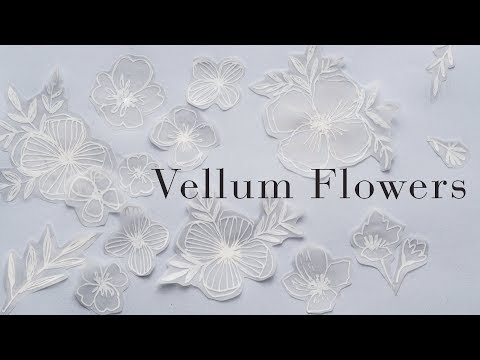 Floral Illustration, Watercolors, and the Magic of Vellum!