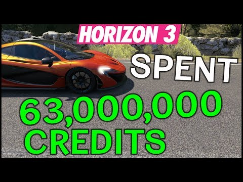 Spent My 63 MILLION Credits - Forza Horizon 3 - Buying Expensive Cars + Help Me! FH3