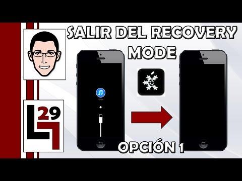 Como salir del Recovery Mode (Pantalla que pide conectar tu dispositivo a iTunes) | Opción 1