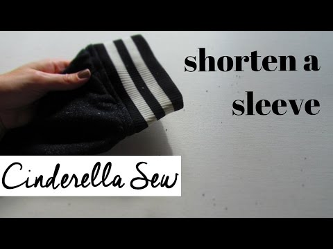 Make sleeve shorter - How to shorten sleeves of a sweater with easy hand sewing - DIY