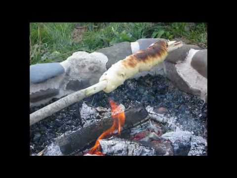 Making Campfire Bannock on a Stick