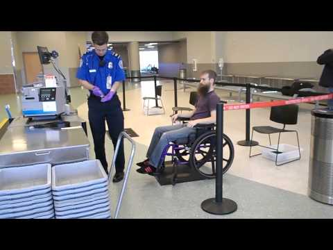 Wheelchair and security when flying