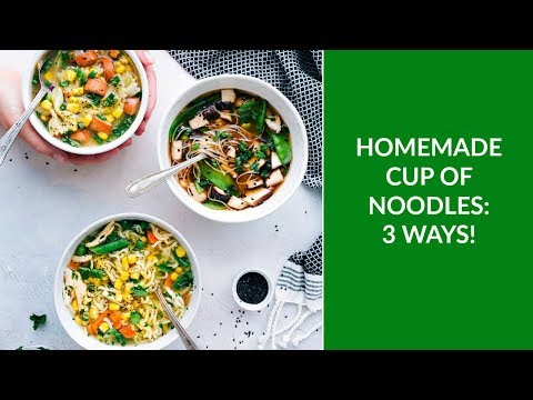 Cup of Noodles: THREE ways!