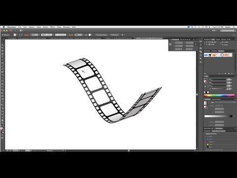 How to create 3D Film Strip in Adobe Illustrator- Simple