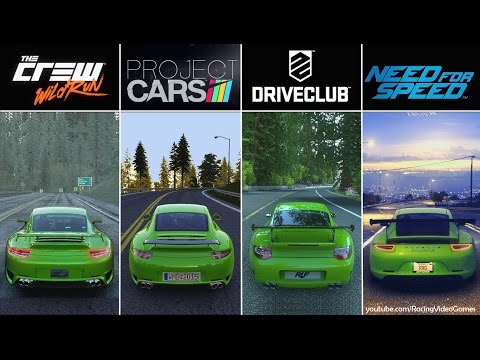 DriveClub vs. Need For Speed vs. The Crew vs. Project CARS   Graphics, Rain & Weather Comparison PS4