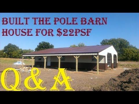 CHEAP Pole Barn House Q&A