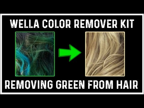 Wella Hair Color Remover Demo + Review Removing Green!