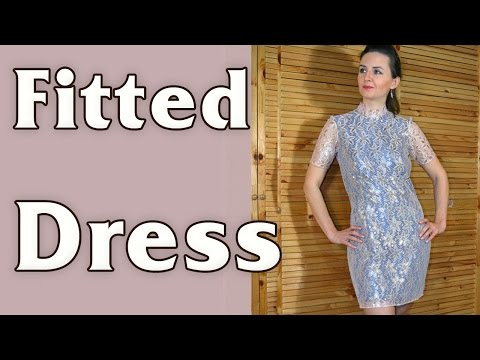2 in 1 - DIY -  Fitted Gold Lace Dresses
