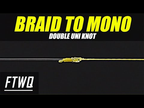 How to Tie Monofilament to Braid : Double Uni Knot
