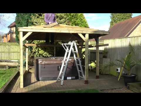 Wooden Gazebo Build - 3.5m Corner Entrance