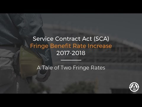 DOL Introduces Dual Fringe Rates for SCA 2017-18