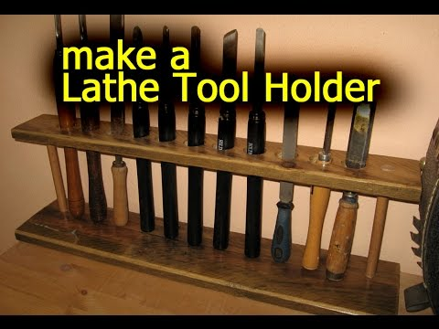 Lathe Tool Holder - Pallet Wood - Woodworking
