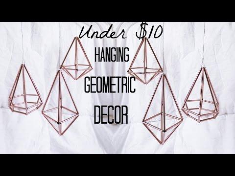 HANGING GEOMETRIC DECOR ♡ DIY