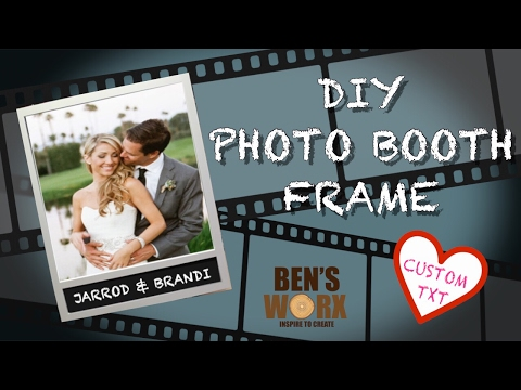 How to make a photo booth picture frame **INSTAGRAM FRAME**