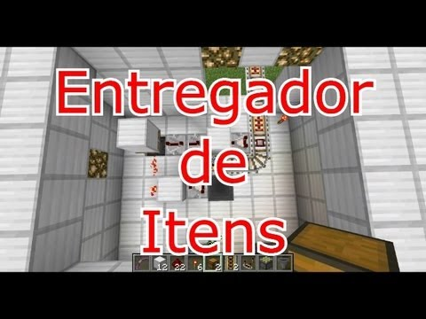 Tutorial Entregador de itens 100% automatico via minecart (Minecraft 1.5.2)