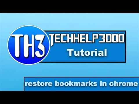 How to restore bookmarks in chrome