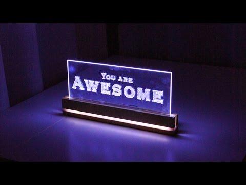 Elegant Acrylic LED Decoration  - How to Make a Edge Light Sign Emblem