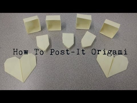How to Post-It Origami (Box, Heart, Frog)