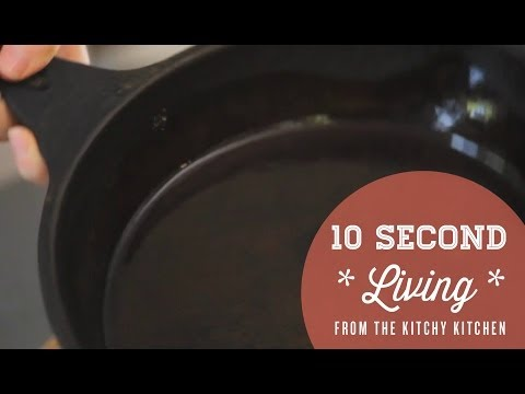 How to Season a Cast Iron Pan // 10 Second Living