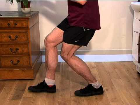 Effective inner calf stretch exercise