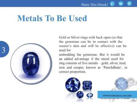 How To Wear Blue Sapphire Stone or Neelam Gemstone