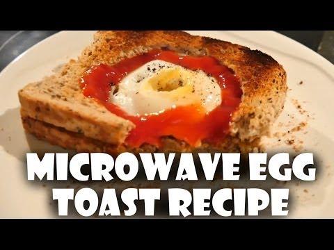 Microwave Egg Toast Sandwich