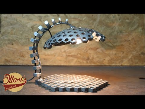 Lamp From Steel Nuts!  Beginner Welding Project