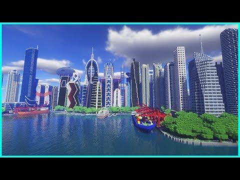 Minecraft - INSANE CITY: City of Nefrimact - Cinematic City Tour & Map Download
