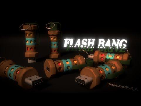 BLENDER Timelaps modeling: CS:GO FLASHBANG - Flash Drive (Steam Workshop project)