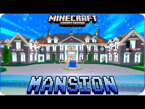 Minecraft PE Maps - Huge MANSION House Map with Download - iOS & Android MCPE 1.0.4 / 1.0