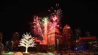 Happy New Year 2018 Firework at Mississauga Celebration Square Ontario Canada
