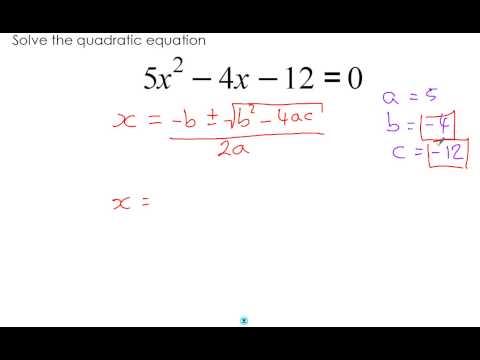 Quadratic Formula - Part 3 - Solving without a calculator