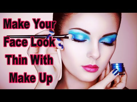 HOW TO MAKE YOUR FACE LOOK THIN WITH MAKE UP!! SLIMMING MAKEUP TRICKS FOR THE FACE!! FOOTLOOSE